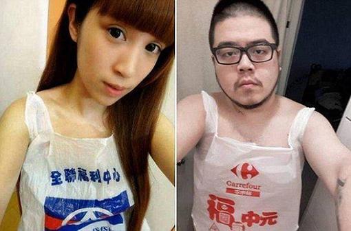 台湾女子達のビニール水着その4